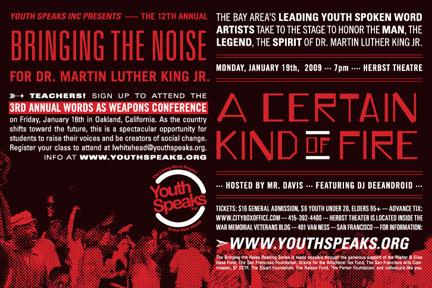 Bringing the Noise for Dr Martin Luther King Youth Speaks